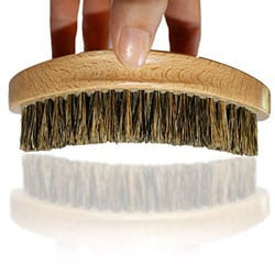 Kingston Grooming- Professional Quality, 100% Natural Wooden Dual Boar Hair Bristle Beard and Hair Brush for Men