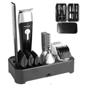 Sminiker Professional 5 in 1 Multi-functional Waterproof Mens Grooming Kit